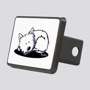 Nap Time Westie Rectangular Hitch Cover