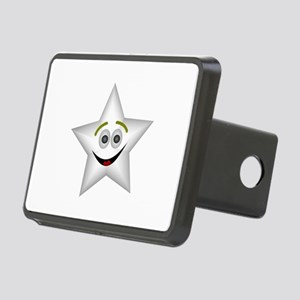 Smiling star with transpar Rectangular Hitch Cover