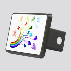 Butterflies and Rainbows Rectangular Hitch Cover