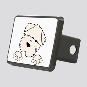 soft coated wheaten terrier peeking Hitch Cover