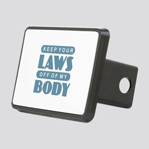 Laws Off My Body Rectangular Hitch Cover