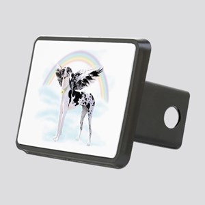Harlequin Great Dane Angel Rectangular Hitch Cover