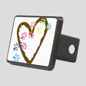 Paw Heart Rectangular Hitch Cover
