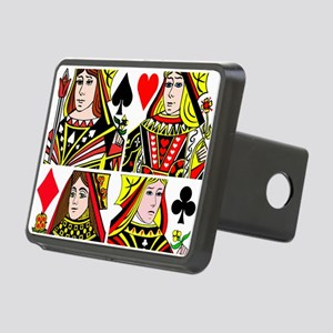 Real Women Play Poker Rectangular Hitch Cover