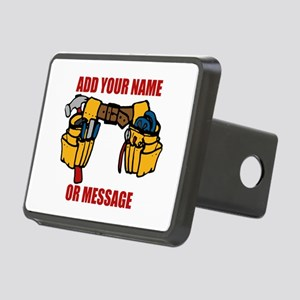 PERSONALIZED Tool Belt Gra Rectangular Hitch Cover