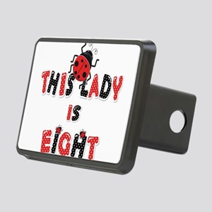 This Lady Is Eight Years O Rectangular Hitch Cover