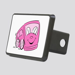 PINK HAPPY BUS Rectangular Hitch Cover