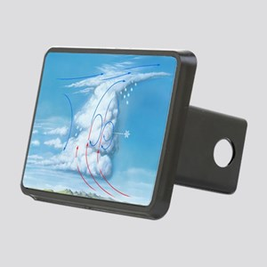 Cumulonimbus hail storm cl Rectangular Hitch Cover