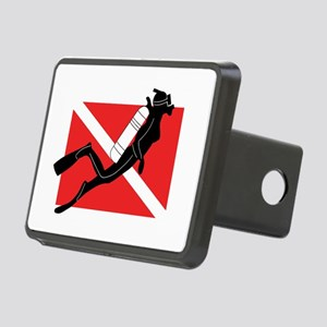 Girl SCUBA Diver Rectangular Hitch Cover