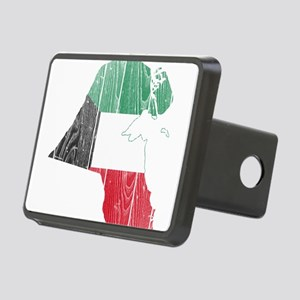 Kuwait Flag And Map Rectangular Hitch Cover