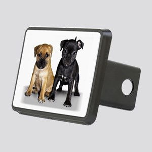 staffie puppies Rectangular Hitch Cover