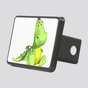Cute Green Dragon Rectangular Hitch Cover