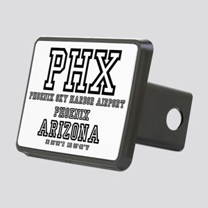 AIRPORT CODES - PHX - PHOE Rectangular Hitch Cover