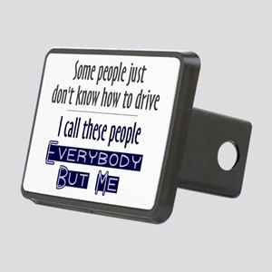 Bad Drivers (Blue) Rectangular Hitch Cover