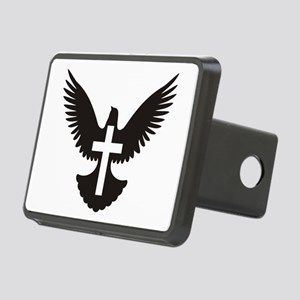 Dove with cross Rectangular Hitch Cover