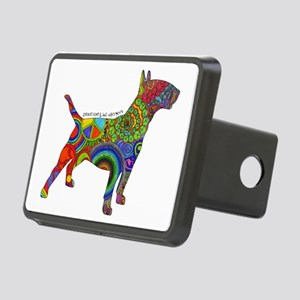 Peace Love Bull Terriers Rectangular Hitch Cover
