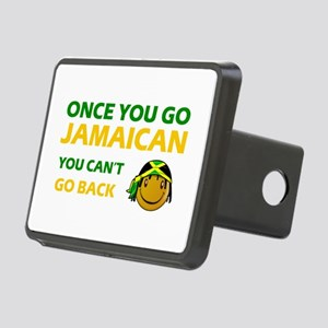 Jamaican smiley designs Rectangular Hitch Cover