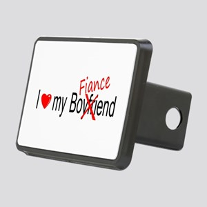 I Love My Fiance Rectangular Hitch Cover