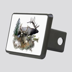 Buck deer bull elk Rectangular Hitch Cover