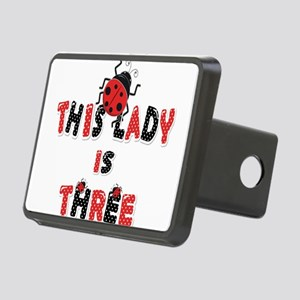 This Lady Is Three Years O Rectangular Hitch Cover