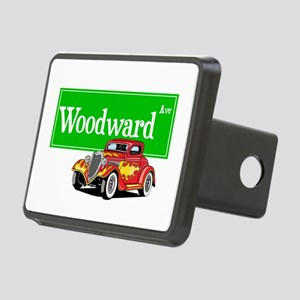 Woodward Red Hotrod Rectangular Hitch Cover