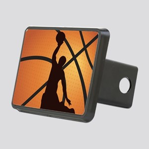 Basketball dunk Rectangular Hitch Cover