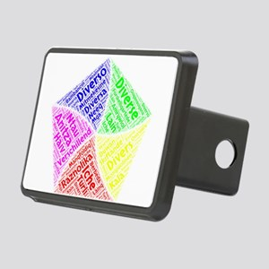diverse languages wordart Rectangular Hitch Cover