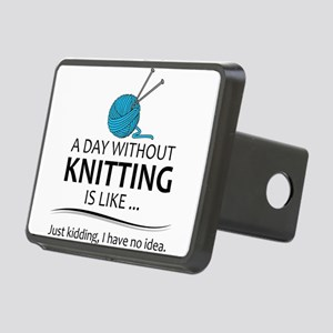 Knitter Gifts - Knitting L Rectangular Hitch Cover