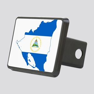 Nicaragua Flag and Map Rectangular Hitch Cover