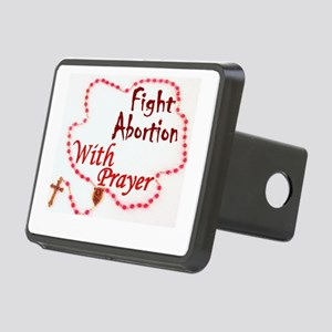Pray Rosary Fight Abortion Rectangular Hitch Cover