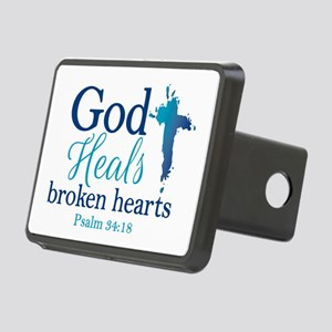 Psalm 34:18 Rectangular Hitch Cover