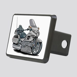 Goldwing Silver Bike Rectangular Hitch Cover