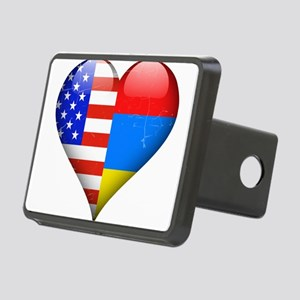 Half American Half Armenia Rectangular Hitch Cover
