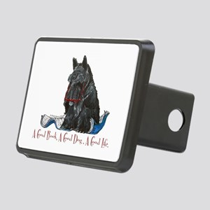 Scottish Terrier Book Rectangular Hitch Cover