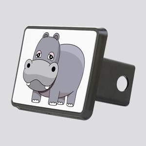 Cute Baby Hippo Rectangular Hitch Cover