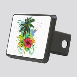 Tree and Flower Painting Hitch Cover
