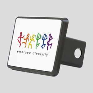 gay pride dance Rectangular Hitch Cover
