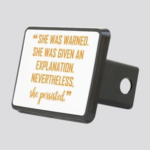 """She persisted!"" Rectangular Hitch Cover"