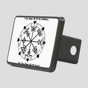 Pagan Wheel of the Year T-Shirt Hitch Cover