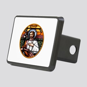 ST. JOSEPH STAINED GLASS WINDOW Rectangular Hitch