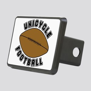 Unicycle Football Text Rectangular Hitch Cover