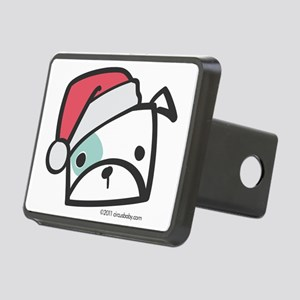bulldog_santa Rectangular Hitch Cover