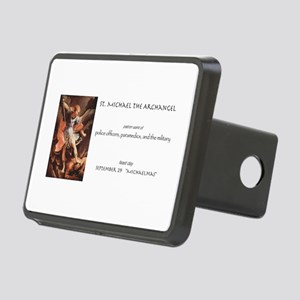 st. michael the archangel Rectangular Hitch Cover