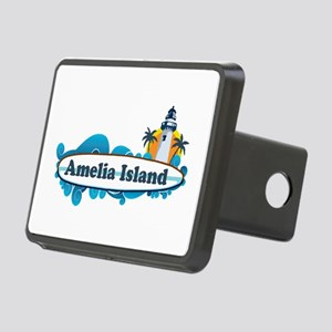 Amelia Island - Surf Design. Rectangular Hitch Cov