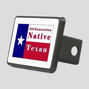 4th Generation Native Texan Flag Rectangular Hitch