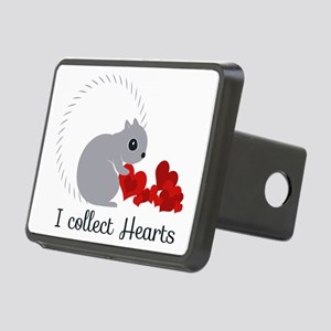 I Collect Hearts Rectangular Hitch Cover