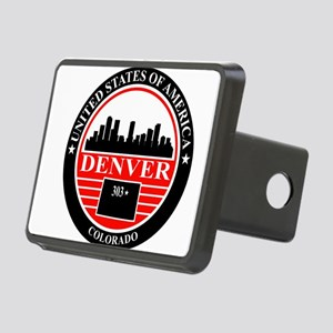 Denver logo black and red Hitch Cover