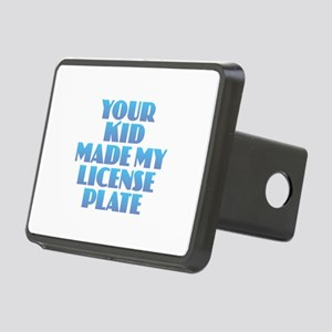 License Plate - Blue Rectangular Hitch Cover