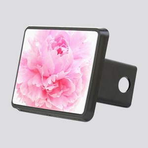 pink peony Rectangular Hitch Cover