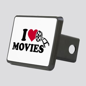 I love Movies Rectangular Hitch Cover
